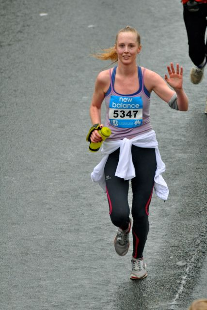 Waving 'hi' at the 16km mark
