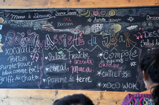 The daily menu