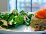 Quick & fancy vegan: crunchy quinoa & apple saladlunch