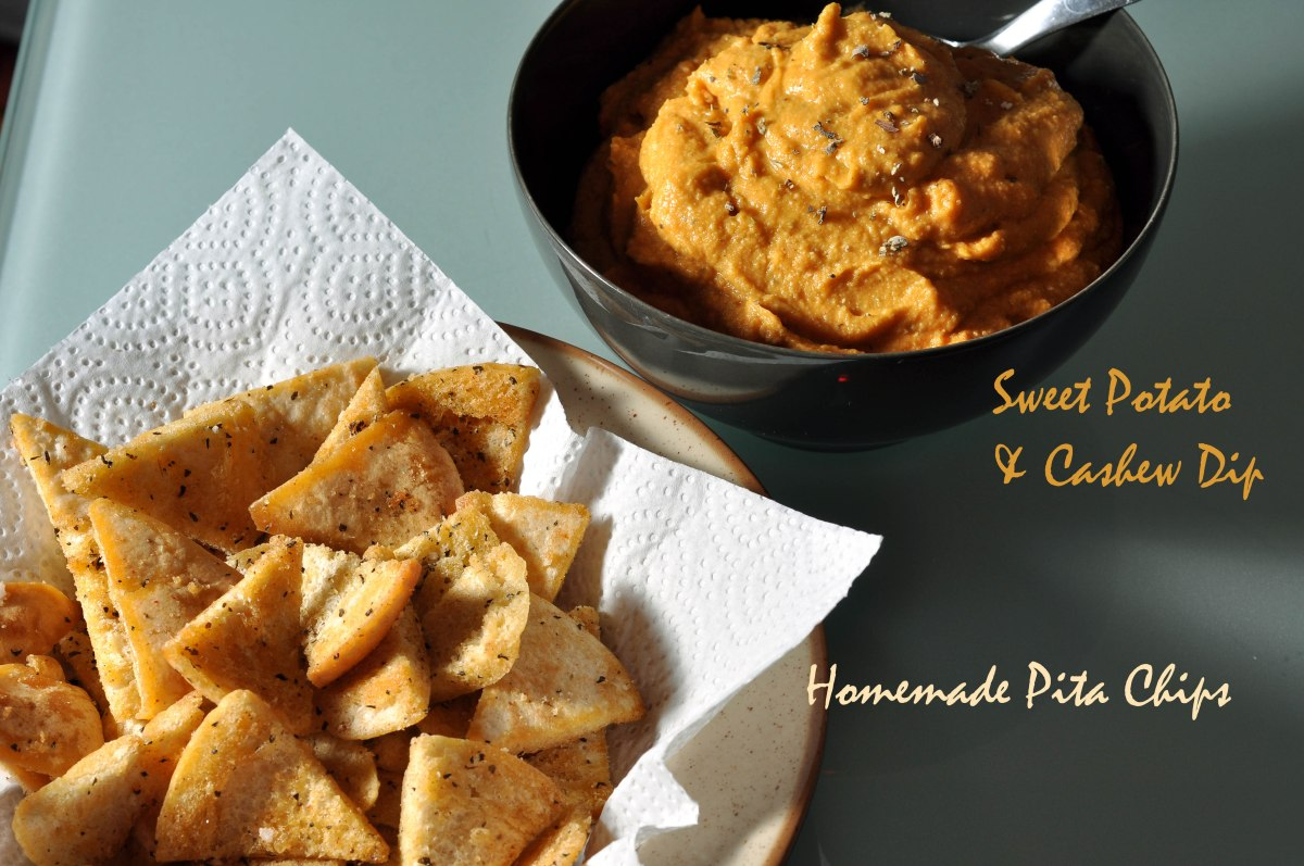 What goes well with sweet potato & cashew dip?