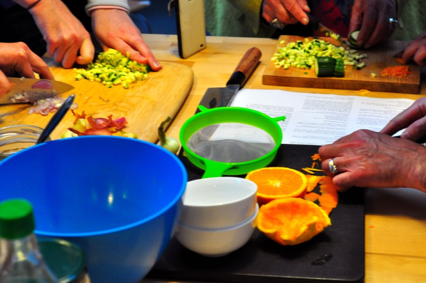 All hands on deck: preparing a delicious dinner
